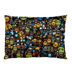 Many Funny Animals Pillow Case