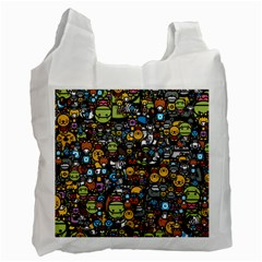 Many Funny Animals Recycle Bag (One Side)