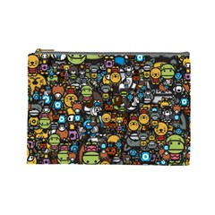 Many Funny Animals Cosmetic Bag (Large)