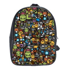 Many Funny Animals School Bags(Large)