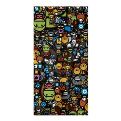 Many Funny Animals Shower Curtain 36  x 72  (Stall)