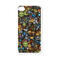 Many Funny Animals Apple Iphone 4 Case (white)