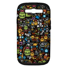 Many Funny Animals Samsung Galaxy S III Hardshell Case (PC+Silicone)