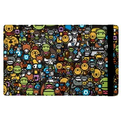 Many Funny Animals Apple iPad 3/4 Flip Case