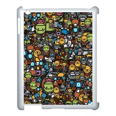 Many Funny Animals Apple Ipad 3/4 Case (white)
