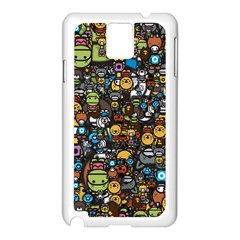 Many Funny Animals Samsung Galaxy Note 3 N9005 Case (White)