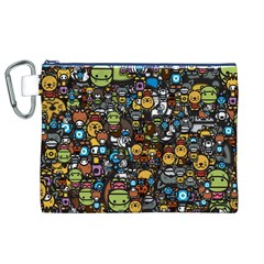 Many Funny Animals Canvas Cosmetic Bag (XL)