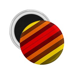Abstract Bright Stripes 2 25  Magnets