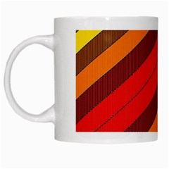 Abstract Bright Stripes White Mugs