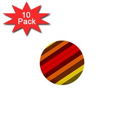 Abstract Bright Stripes 1  Mini Buttons (10 Pack)