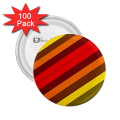 Abstract Bright Stripes 2.25  Buttons (100 pack)