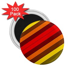 Abstract Bright Stripes 2 25  Magnets (100 Pack)