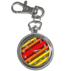 Abstract Bright Stripes Key Chain Watches