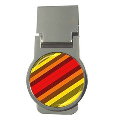 Abstract Bright Stripes Money Clips (Round)