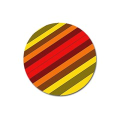 Abstract Bright Stripes Magnet 3  (round)