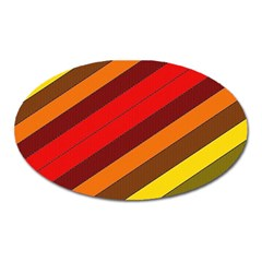 Abstract Bright Stripes Oval Magnet