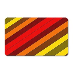 Abstract Bright Stripes Magnet (Rectangular)