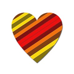 Abstract Bright Stripes Heart Magnet