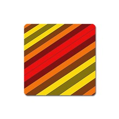 Abstract Bright Stripes Square Magnet