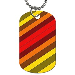 Abstract Bright Stripes Dog Tag (One Side)