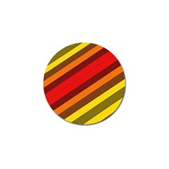 Abstract Bright Stripes Golf Ball Marker (10 Pack)