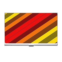 Abstract Bright Stripes Business Card Holders