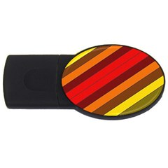 Abstract Bright Stripes USB Flash Drive Oval (2 GB)