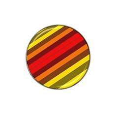 Abstract Bright Stripes Hat Clip Ball Marker