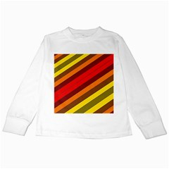 Abstract Bright Stripes Kids Long Sleeve T Shirts