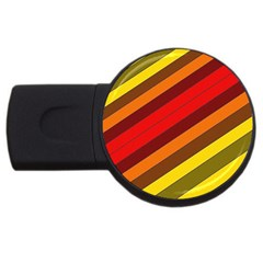 Abstract Bright Stripes USB Flash Drive Round (4 GB)