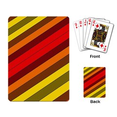 Abstract Bright Stripes Playing Card