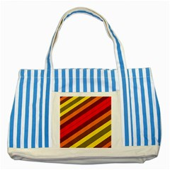 Abstract Bright Stripes Striped Blue Tote Bag