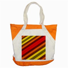 Abstract Bright Stripes Accent Tote Bag