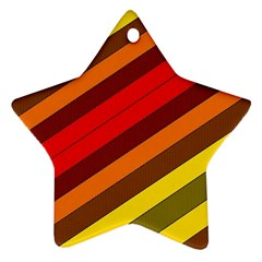 Abstract Bright Stripes Star Ornament (two Sides)