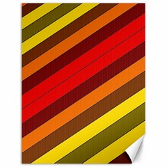 Abstract Bright Stripes Canvas 12  x 16