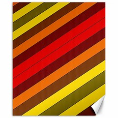 Abstract Bright Stripes Canvas 16  X 20