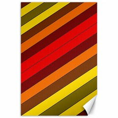Abstract Bright Stripes Canvas 24  X 36