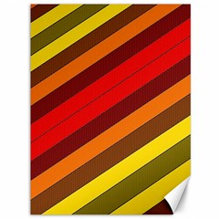 Abstract Bright Stripes Canvas 36  x 48