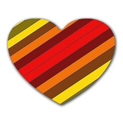 Abstract Bright Stripes Heart Mousepads