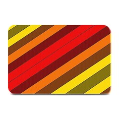 Abstract Bright Stripes Plate Mats