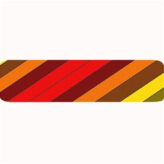 Abstract Bright Stripes Large Bar Mats