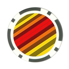 Abstract Bright Stripes Poker Chip Card Guard