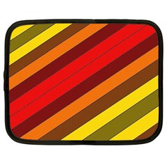 Abstract Bright Stripes Netbook Case (Large)