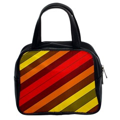 Abstract Bright Stripes Classic Handbags (2 Sides)