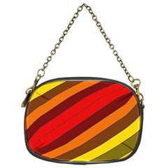 Abstract Bright Stripes Chain Purses (one Side)