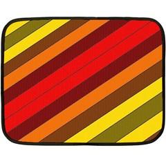 Abstract Bright Stripes Fleece Blanket (Mini)