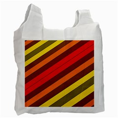 Abstract Bright Stripes Recycle Bag (one Side)