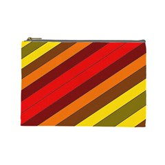Abstract Bright Stripes Cosmetic Bag (large)