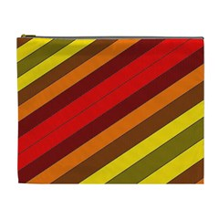 Abstract Bright Stripes Cosmetic Bag (XL)
