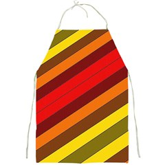 Abstract Bright Stripes Full Print Aprons